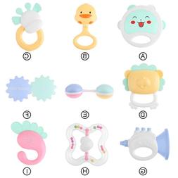0-12 Months Baby Rattles Teether Toys Music Hand Shake Bed C