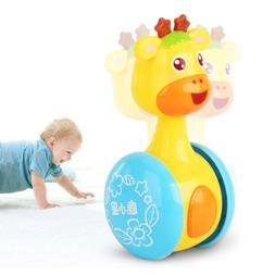 0-12 Months Baby Rattles Tumbler Doll Toy Bell Music Educati