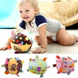 0-12 Months Children's Ring Bell Ball Baby Cloth Music Toy P