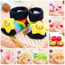 0-12 Months Newborn Baby Cotton Socks Slipper Anti Slip Shoe