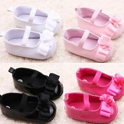 0-12M Baby Toddler Infant Girl Crib Shoes Pram Soft Soles Fi