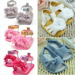 0-18M Baby Infant Girl Summer Sandals Soft Sole Crib Shoes C