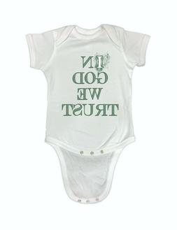 00-127R In God We Trust USA Cute Funny Baby Romper Bodysuits