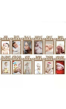 1-12 Months Baby's 1st Birthday Party Photo Frame Shower Bun