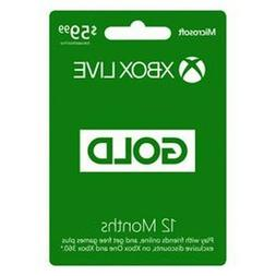 Microsoft 12 Month Xbox Live Gold Membership Quick Delivery!