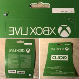 12 Month Microsoft Xbox Live Gold Membership Subscription fo