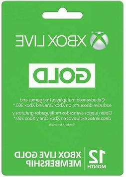 Microsoft 12 Month Xbox Live Gold Membership