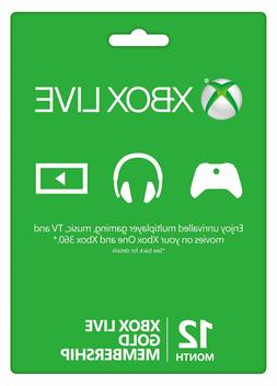 12 Month Xbox Live Gold Membership  Quick Delivery