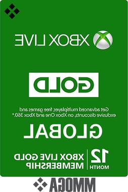 12 Month Xbox Live Gold Membership - Microsoft Xbox 360 One