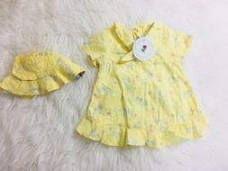 Ring Around The Rosie 12 Month Yellow Dress With Hat Nwts