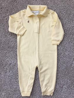 12 months baby boy girl yellow coverall