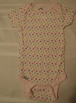 Gerber 12 Months Cotton Short Sleeve Flower Print Onesie NWT