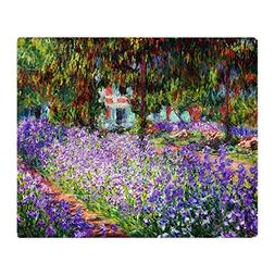 "CafePress 12Mo Monet 9 Soft Fleece Throw Blanket, 50""x60"" St"