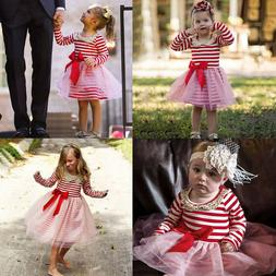 12Months - 5Years Girls Summer Casual Sequin Striped Bowknot