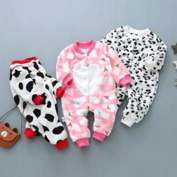 1pc baby newborn boys girls clothes soft warm fleece winter