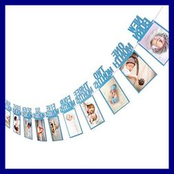 1St Birthday Baby Photo Banner For Newborn To 12 Months Mont