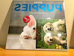 2021 12 Month Calendar, 2 pack, 1 Puppies & 1 Dogs