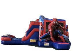 23x15x12 Inflatable Spiderman Slide Bounce House 12 Month Wa