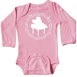 inktastic - Piano Teacher Or Long Sleeve Creeper 12 Months L