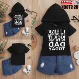 2PCS Newborn Baby Boys Clothes Hooded Tops Trousers Pants Tr