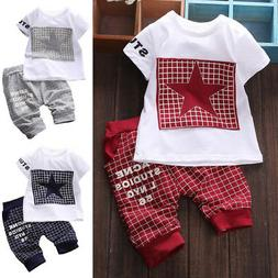 2pcs summer baby toddler kids boys clothes