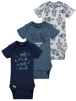 GERBER 3 ONESIES 12 MONTH BABY BOY NEW CLOTHES LOT SET OUTFI