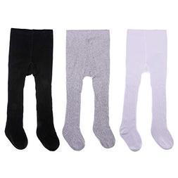 PUREMART 3 Pack Baby Girls Tights Seamless Cable Knit Tights