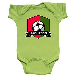 inktastic - Soccer Portugal Flag Banner Infant Creeper 12 Mo