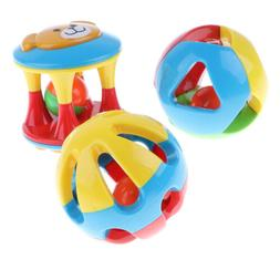 3Pcs Baby Rattles Early Educational Toys for 3, 6, 9, 12 Mon