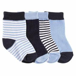 LUVABLE FRIENDS 4 PACK BASIC SOCKS BABY 0-6 6-12 12-18 MONTH