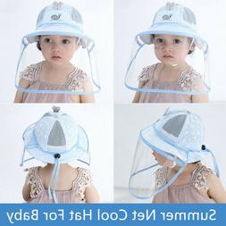 5-12 Months Baby Face Shield Hat Outdoor Safety Summer Folda