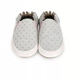 robeez 6-12 Months girls Dot Mania Metallic Grey NEW NIB Lea