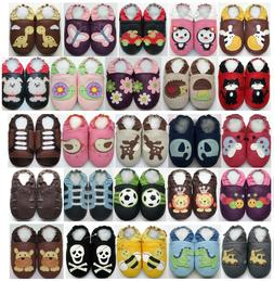 6-12 months US 3-4 Minishoezoo Slippers soft sole Leather Bo