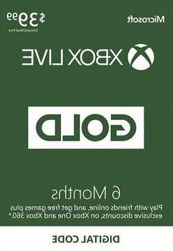 MICROSOFT 6 MONTH XBOX LIVE GOLD GLOBAL ALL REGIONS MEMBERSH