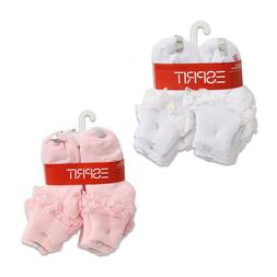 8 Pairs Socks Esprit Infant Toddler Girl Laced White Pink Si