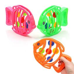 ABS Fish Rattle 3-6-12 Months Children Early Education Toys