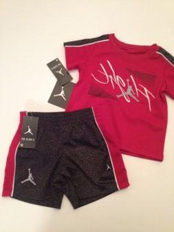 Nike Air Jordan Baby Boy Outfit Set Shirt Shorts Size 12 18