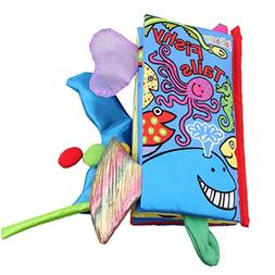 Kemilove Animal Tails Cloth book Baby Toy Cloth Development