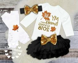 Babies Girls First Thanksgiving Outfit 2018 1st Thanksgiving