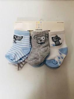 Absorba Baby 6 Pair Bootie Socks, 6-12 Months, Cute Puppies