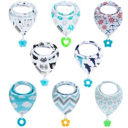 Baby Bandana Drool Bibs and Teething toys Made with 100% Org