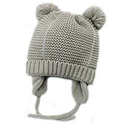 Baby Beanie Earflaps Hat - Infant Toddler Girls Boys Soft Wa