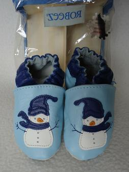 baby blue snowman 6 12 months shoes