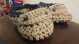 9-12 Months Baby Booties Loafers Handmade **free shipping in