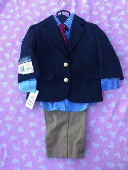 Baby Boy Nautica 12 Months 4 Piece Suit Nwt Easter Holiday