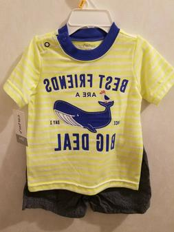 baby boy 12 months carters Shirt whit shorts NEW