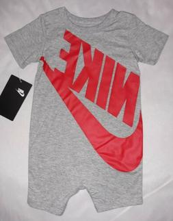 Nike Baby Boy 6-9M 9-12M Romper Coverall Jumpsuit Outfit NWT