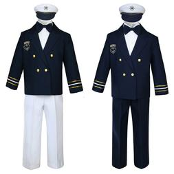 Baby Boy & Toddler Formal Captain Sailor Costume Suit Outfit