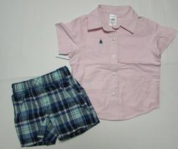 Baby boy clothes, 12 months, Carter's shirt/shorts/NEW WITH