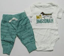 Baby boy clothes, 12 months , Carter's 2 piece pant set NEW